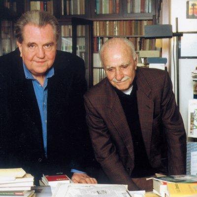 Giuseppe Pontiggia con Mario Monicelli