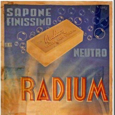Un manifesto del sapone Radium