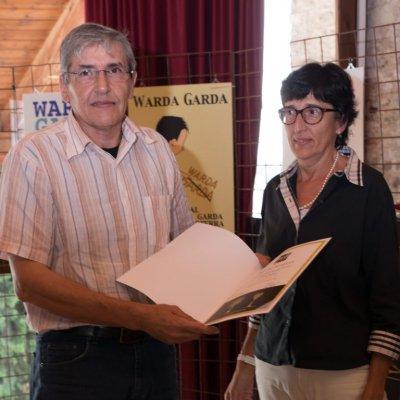 Luigi Ghitti – Primo Premio Bargioni - con la figlia del Professore