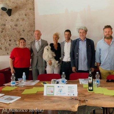 I relatori al convegno sugli olivi e sull'olio che generano bellezza