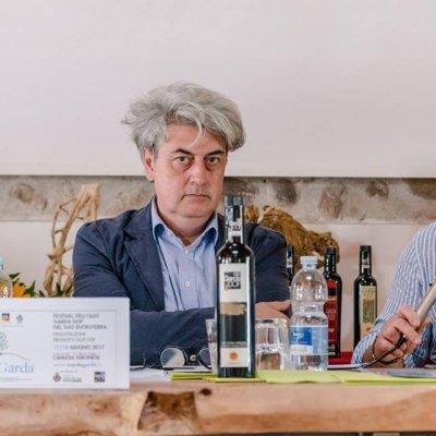 Luigi Caricato, a sinistra, con Matteo Felter, Chef del Grand Hotel Fasano di Gardone Riviera