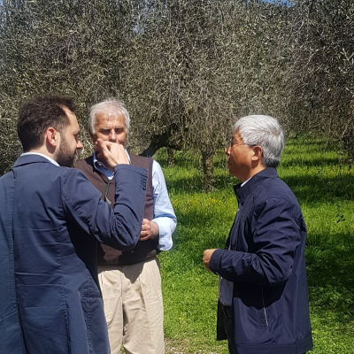 Leonardo Laureti e il prof Ming