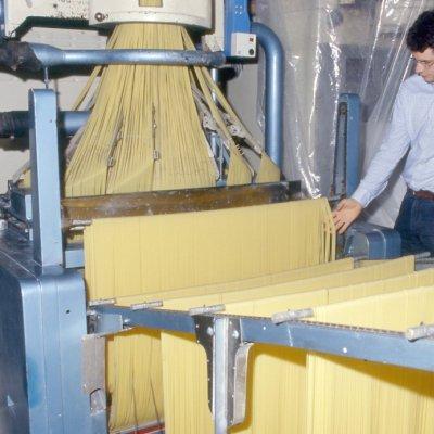 AndreaCavalieri, la quarta generazione, mentre controlla l'uscita dei noti spaghettoni