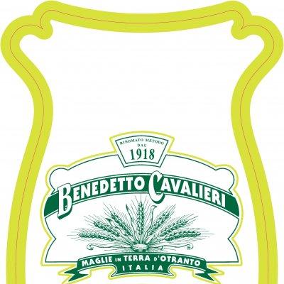 Etichetta per la confezione della pasta integrale Benedetto Cavalieri