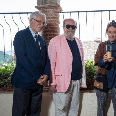 Premio Monini 2018 _ Victoria T. Chaplin premiata da MF Monini e Giorgio Ferrara © Andrea Kim Mariani