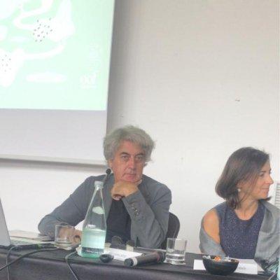 Direttore Olio Officina Luigi Caricato e Chiara Del Vecchio, Food Division Development Director Palazzo di Varignana