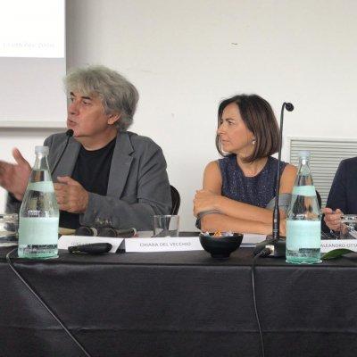 Direttore Luigi Caricato assieme a Chiara Del Vecchio, Aleandro Ottanelli Università degli studi di Firenze, Tullia Gallina Toschi docente presso l'Università degli studi di Bologna