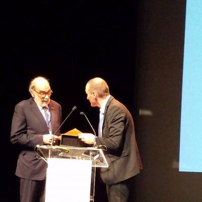 Il professor Lanfranco Conte con Frederic Fine, presidente della Societè Francaise pour l'Etude des Lipides