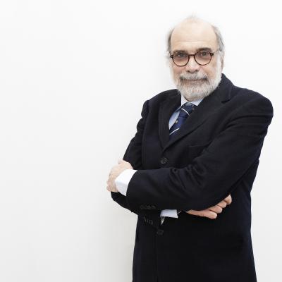 Lanfranco Conte in un ritratto di Gianfranco Maggio