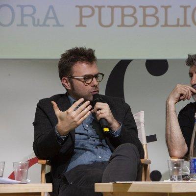 Paolo Giordano (a sinistra) con Antonio Pascale