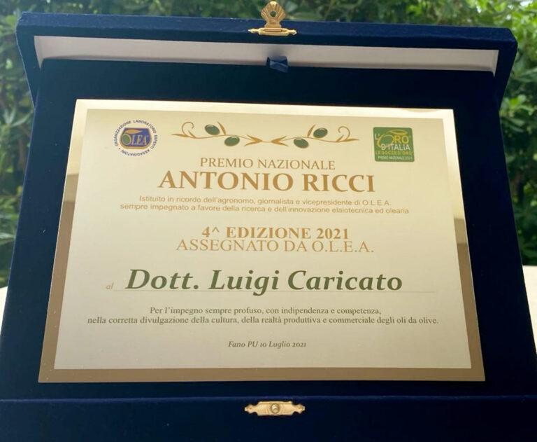 Un Premio a Luigi Caricato nel nome di Antonio Ricci
