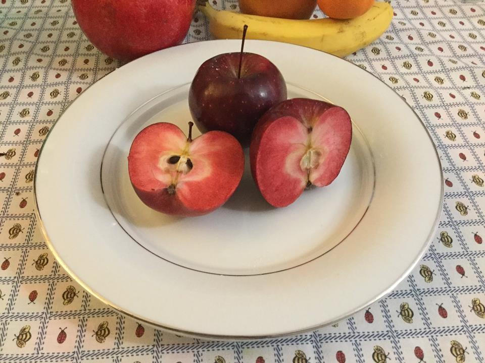 Una mela a polpa rossa