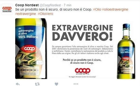 Truffa olio, la reazione della Coop
