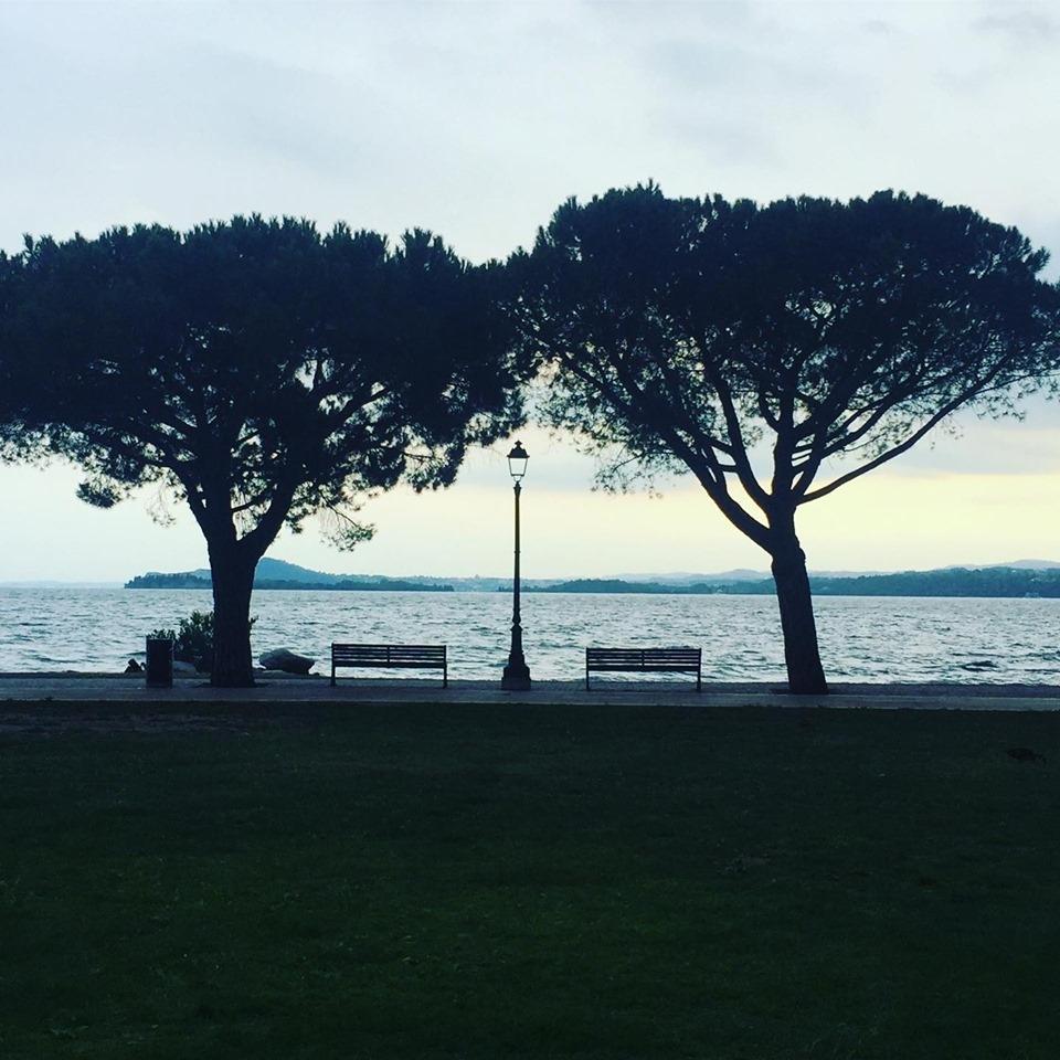 Di fronte il lago, dietro gli olivi