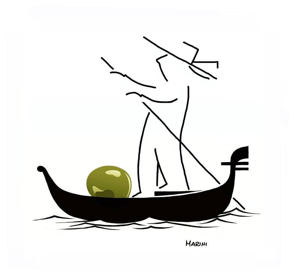 L'oliva viaggia in gondola