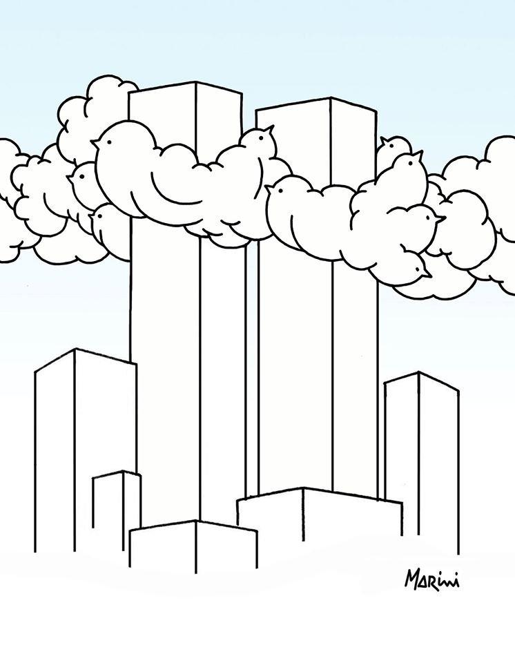Le nubi in alto