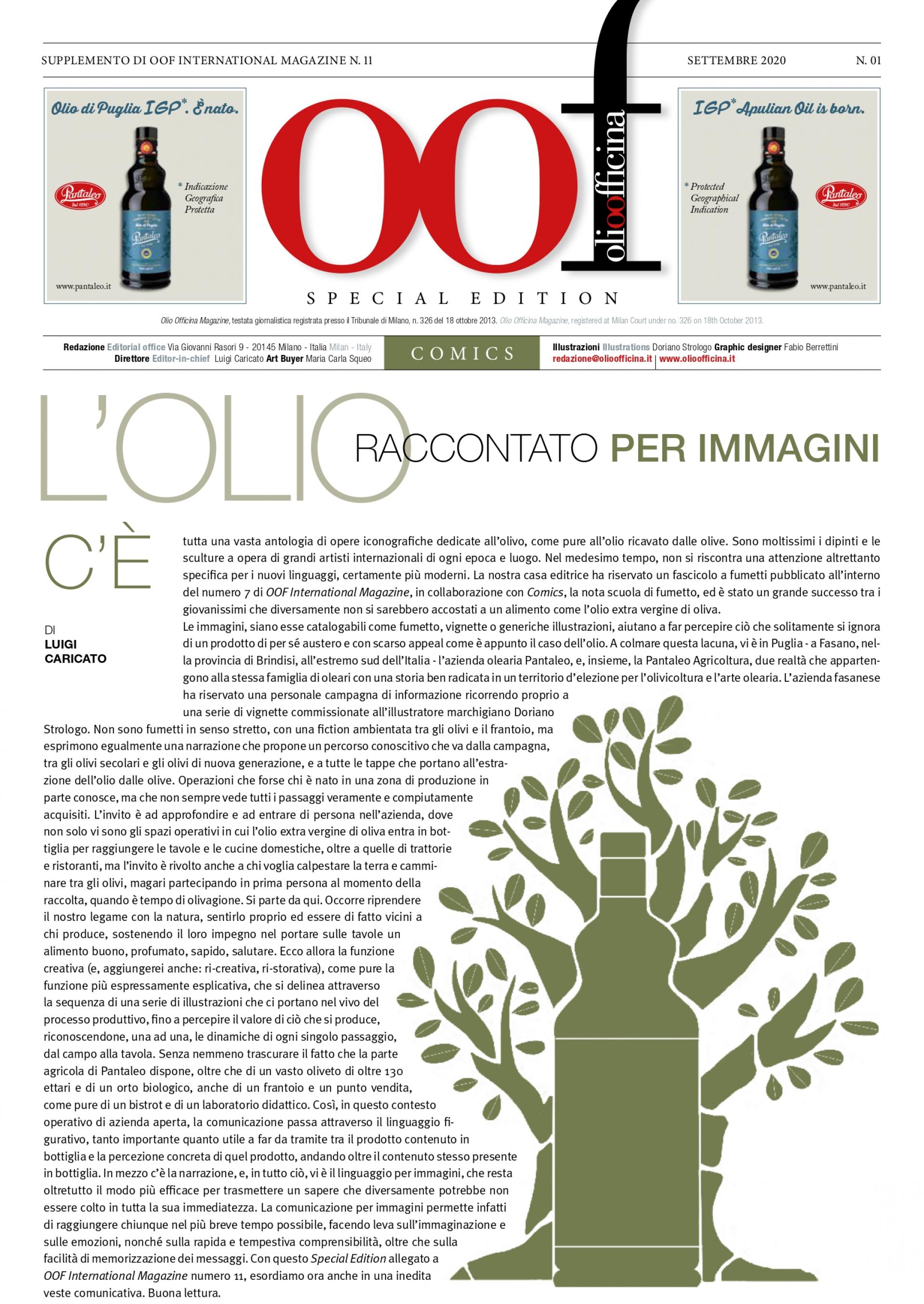 L'OLIO RACCONTATO PER IMMAGINI - OLIVE OIL IN IMAGES Pantaleo | Special edition | Comics